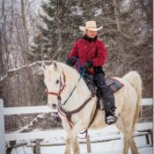 Au Québec a cheval Hiver comme été, dans un Ranch magnifique