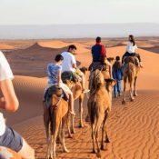 Initiation à la randonnée en famille dans le désert marocain